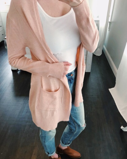 blush pink cardigan from amazon prime!