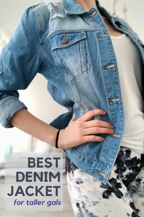 unnamedDenim jacket for tall girls from amazon prime outfit