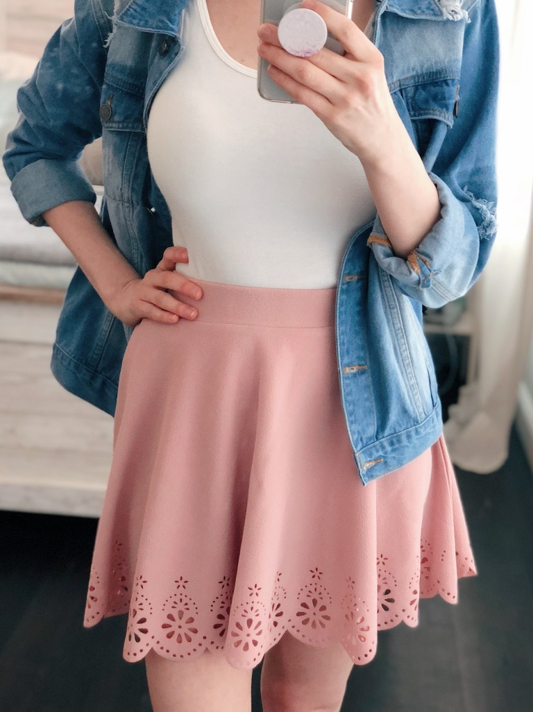 pink scallop skirt from amazon prime