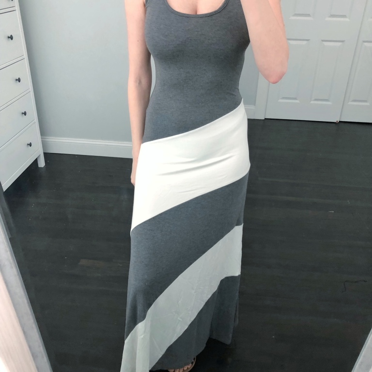 grey racerback maxi dress from amazon prime